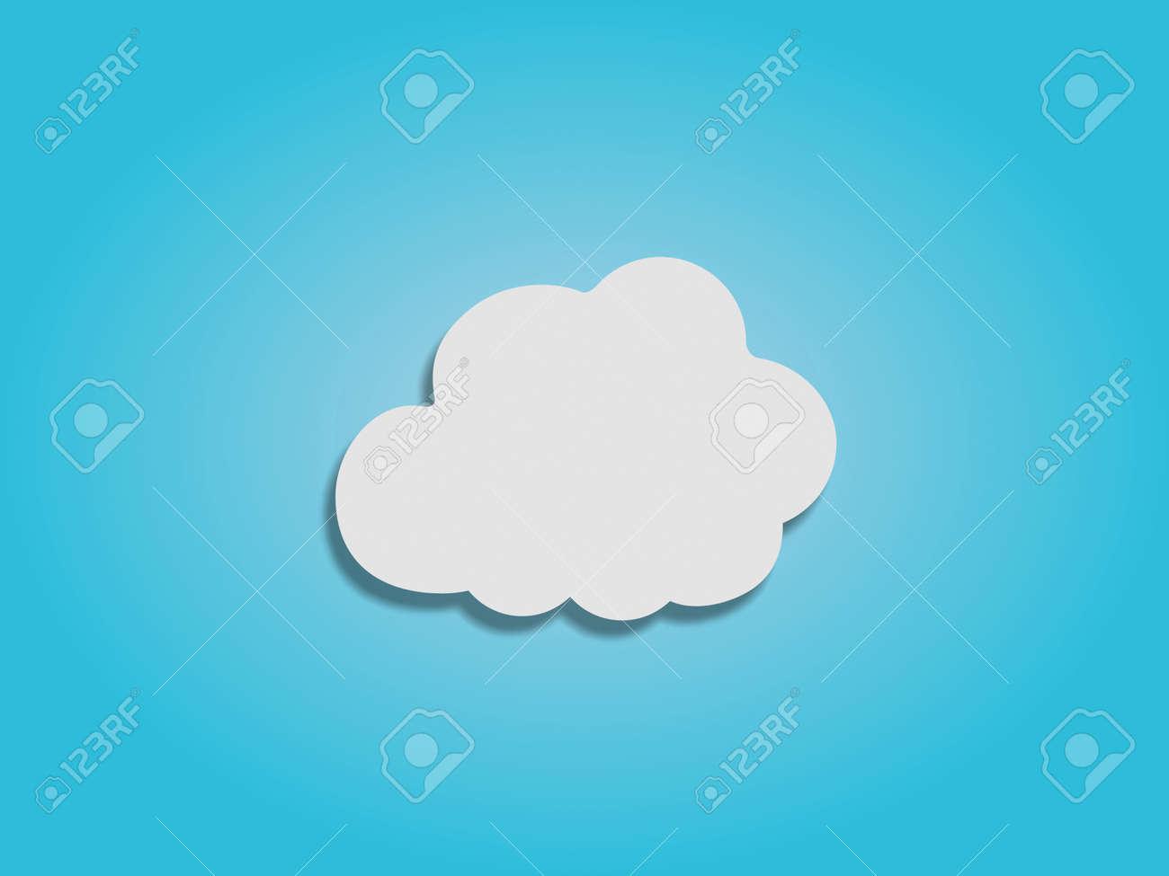 Paper white cloud symbol on blue sky background stock photo paper white cloud symbol on blue sky background stock photo 27789995 biocorpaavc Gallery
