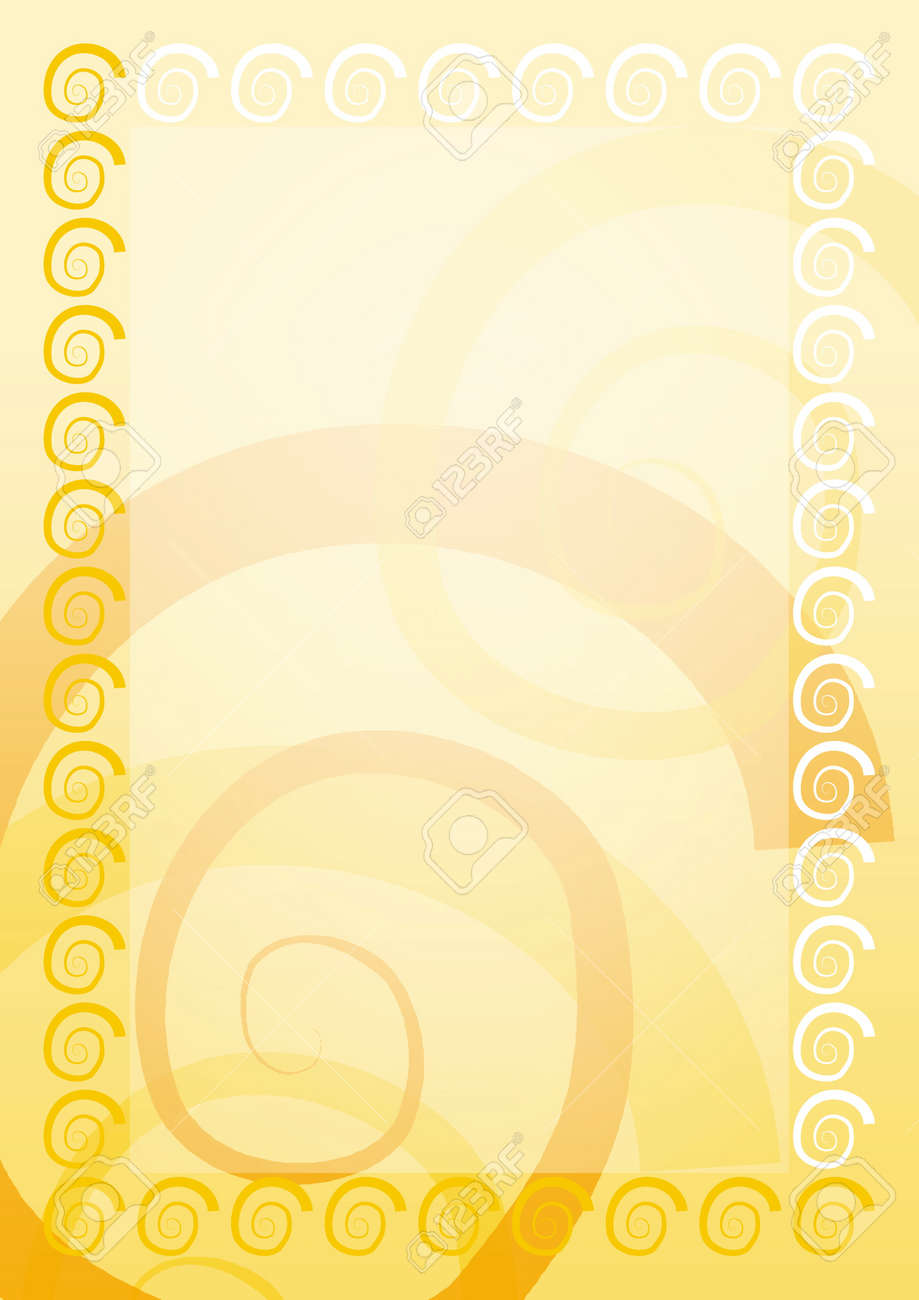 Sign. Yellow blank with border Stock Photo - 13379572