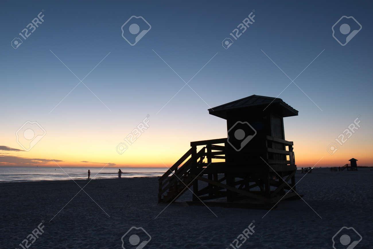 Lifeguard station on Siesta Key Beach Stock Photo - 16711444