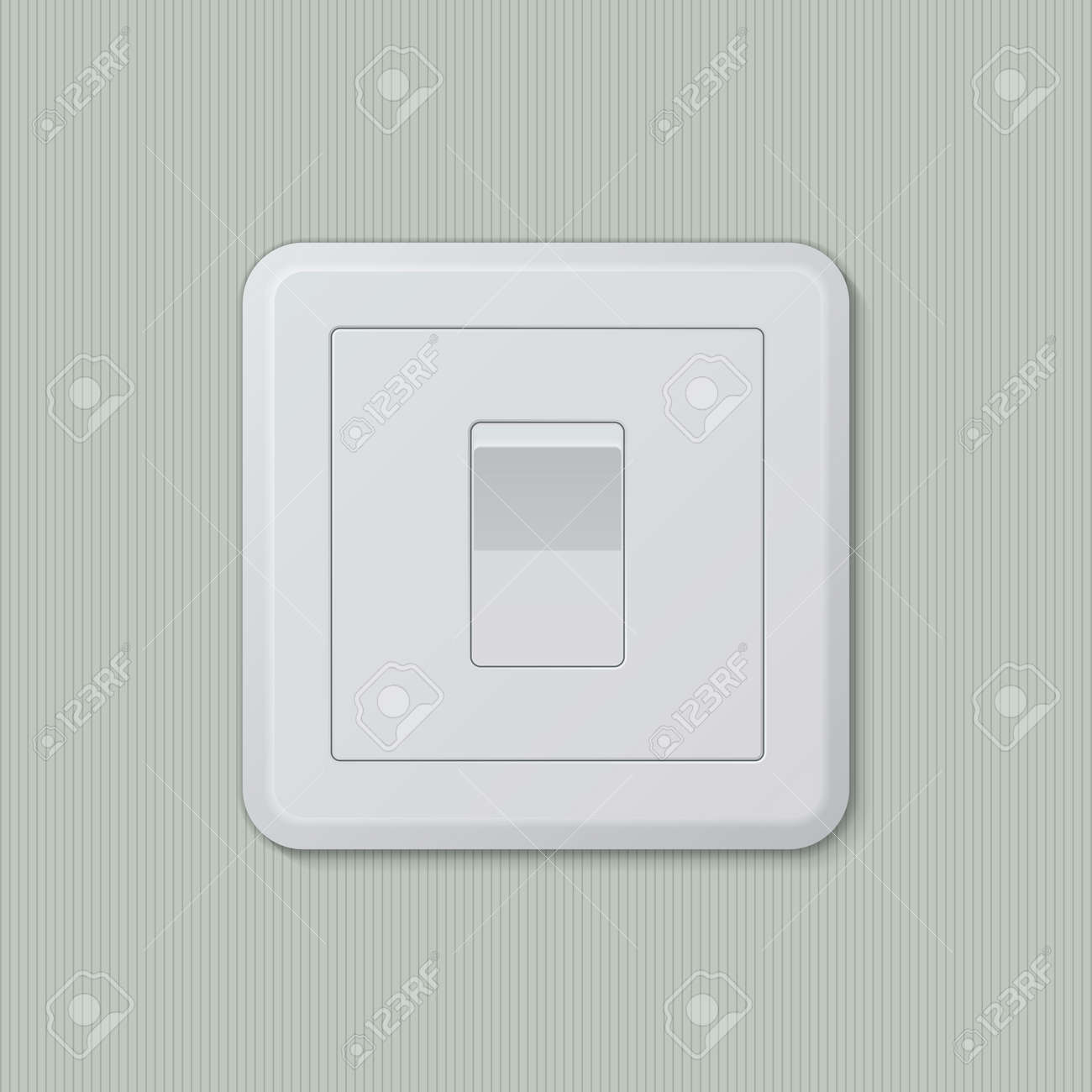 Realistic Plastic White Light Switch In \