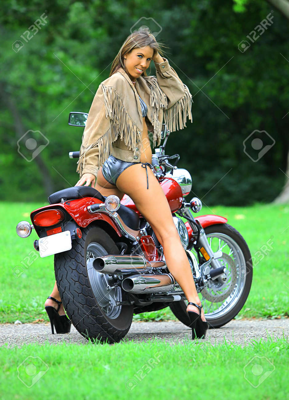 motorcycle babe images  Biker Babe Stock Photos. Royalty Free Biker Babe Images