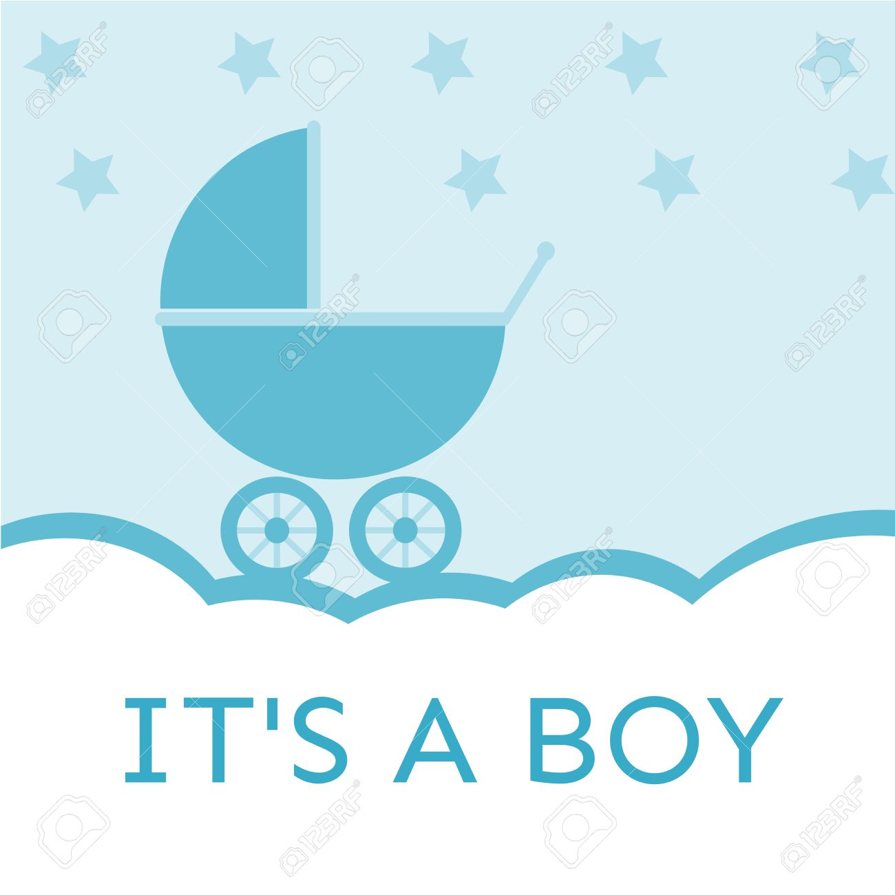 It\'s A Boy Baby Shower Invitation Royalty Free Cliparts, Vectors ...