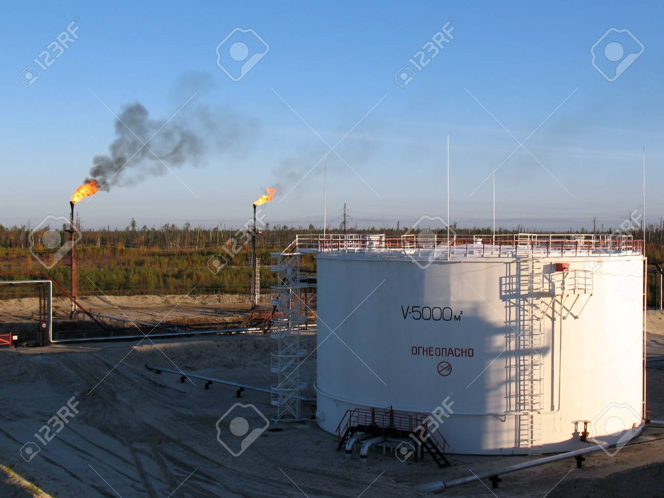 Oil storage in west Siberia. Stock Photo - 4044761