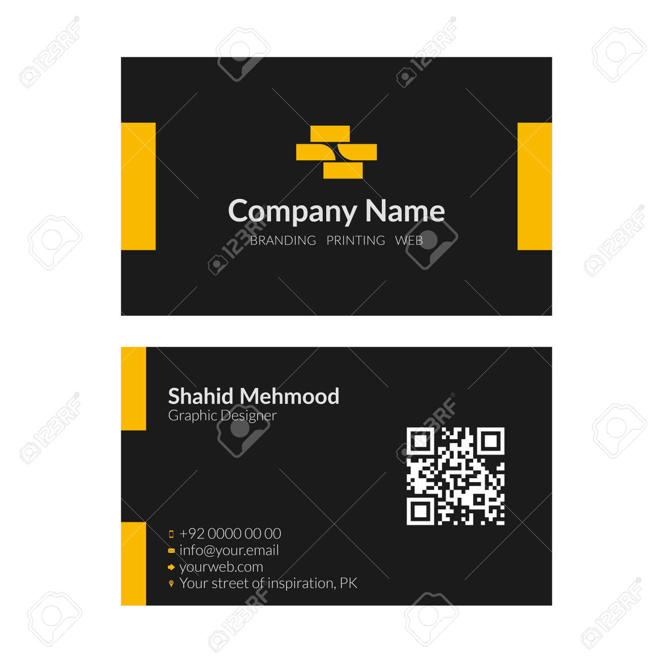 Modern simple creative elegant business card template 06 royalty modern simple creative elegant business card template 06 stock vector 38754923 reheart Choice Image