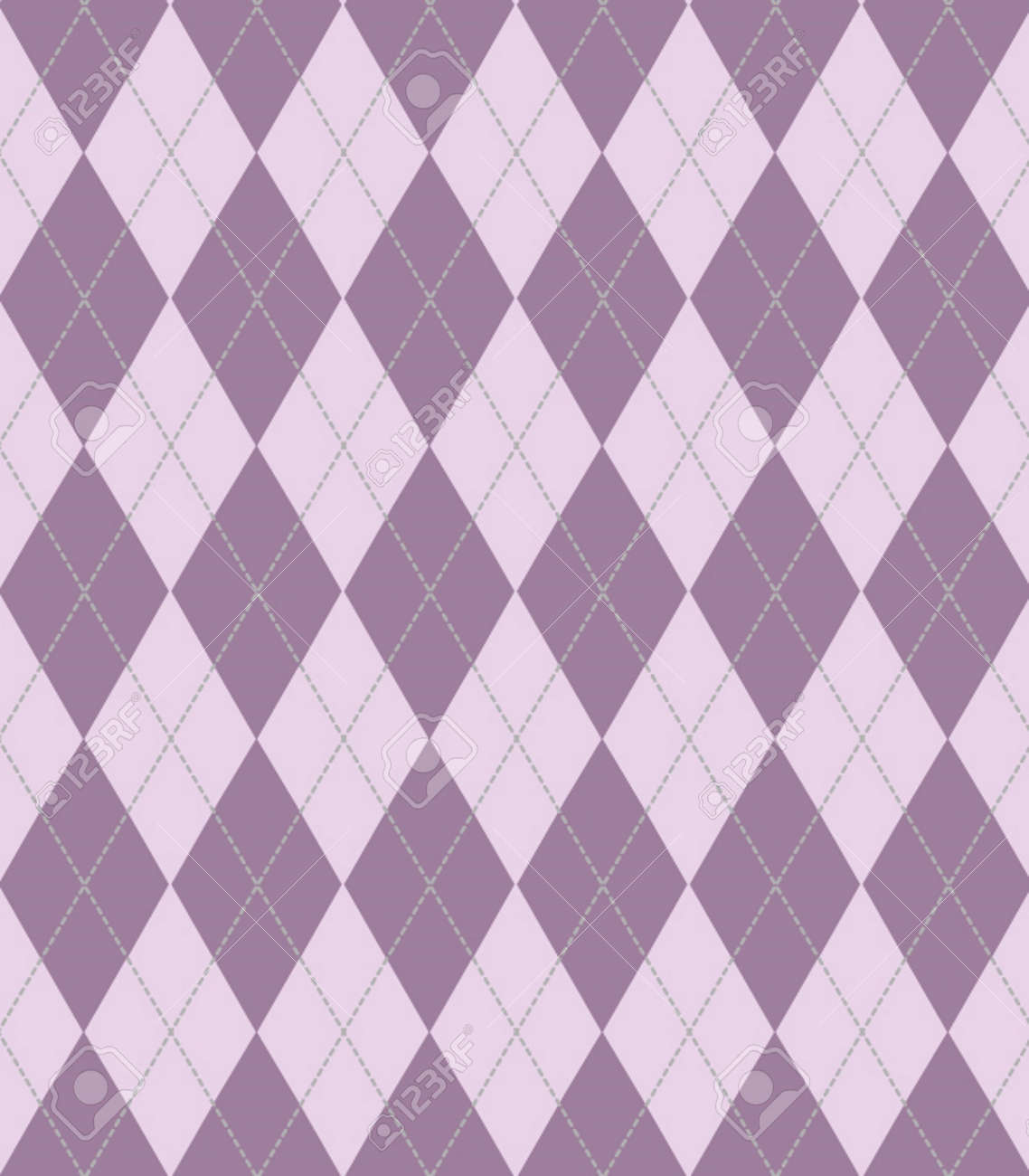 Large Argyle Purple Seamless Texture For Backgrounds Wallpaper Cloth Stock Vector