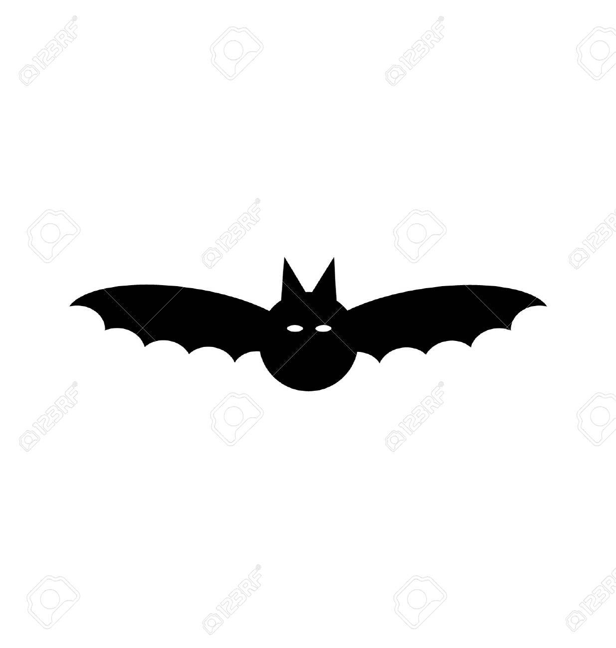 black halloween bat silhouette stock vector 32232651