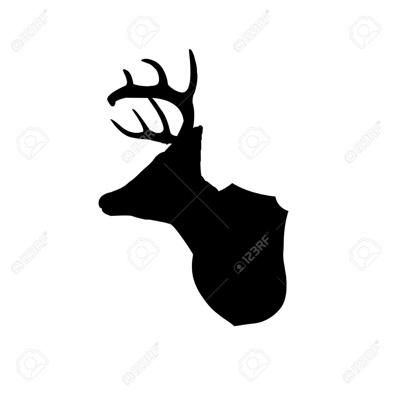 mounted deer head silhouette clip art royalty free cliparts vectors rh 123rf com deer head clipart free deer head clip art silhouette