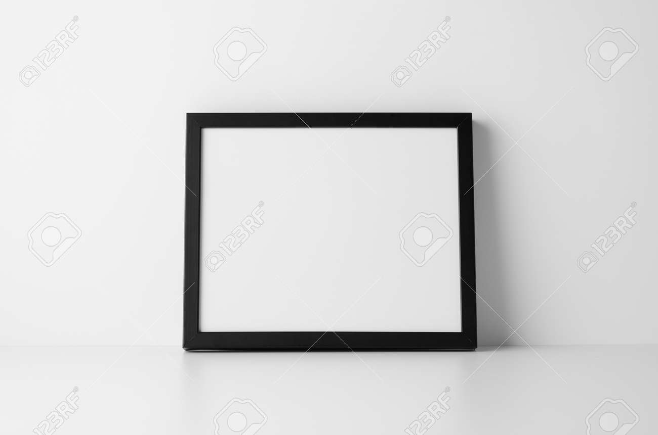 8x10 Black Frame Mock-Up - Landscape Stock Photo, Picture And ...
