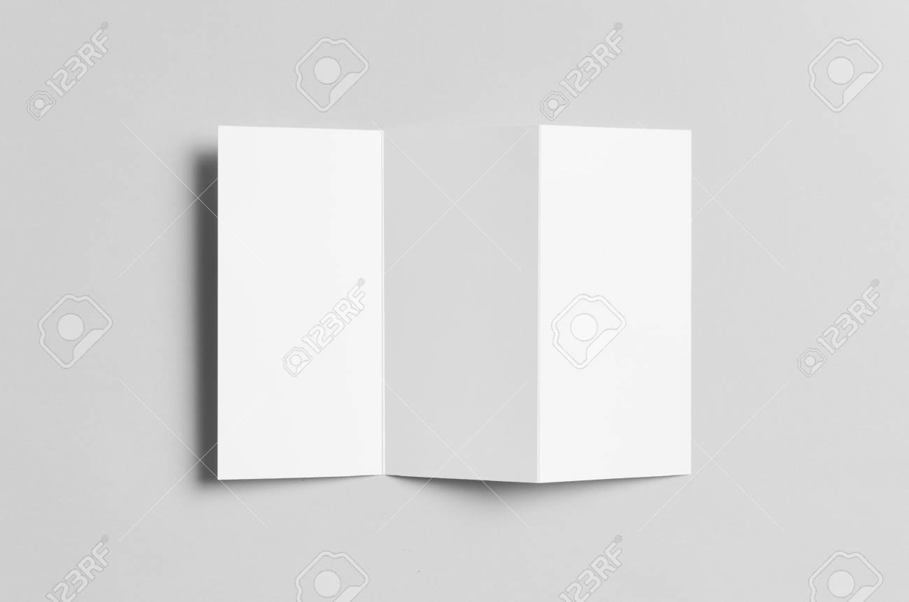 a4 z fold brochure mock up stock photo 69447848