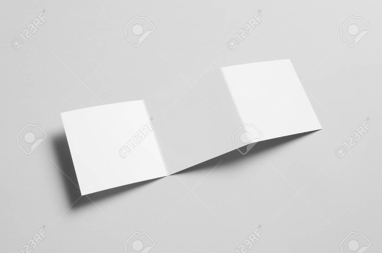 square z fold brochure mock up stock photo 67101914