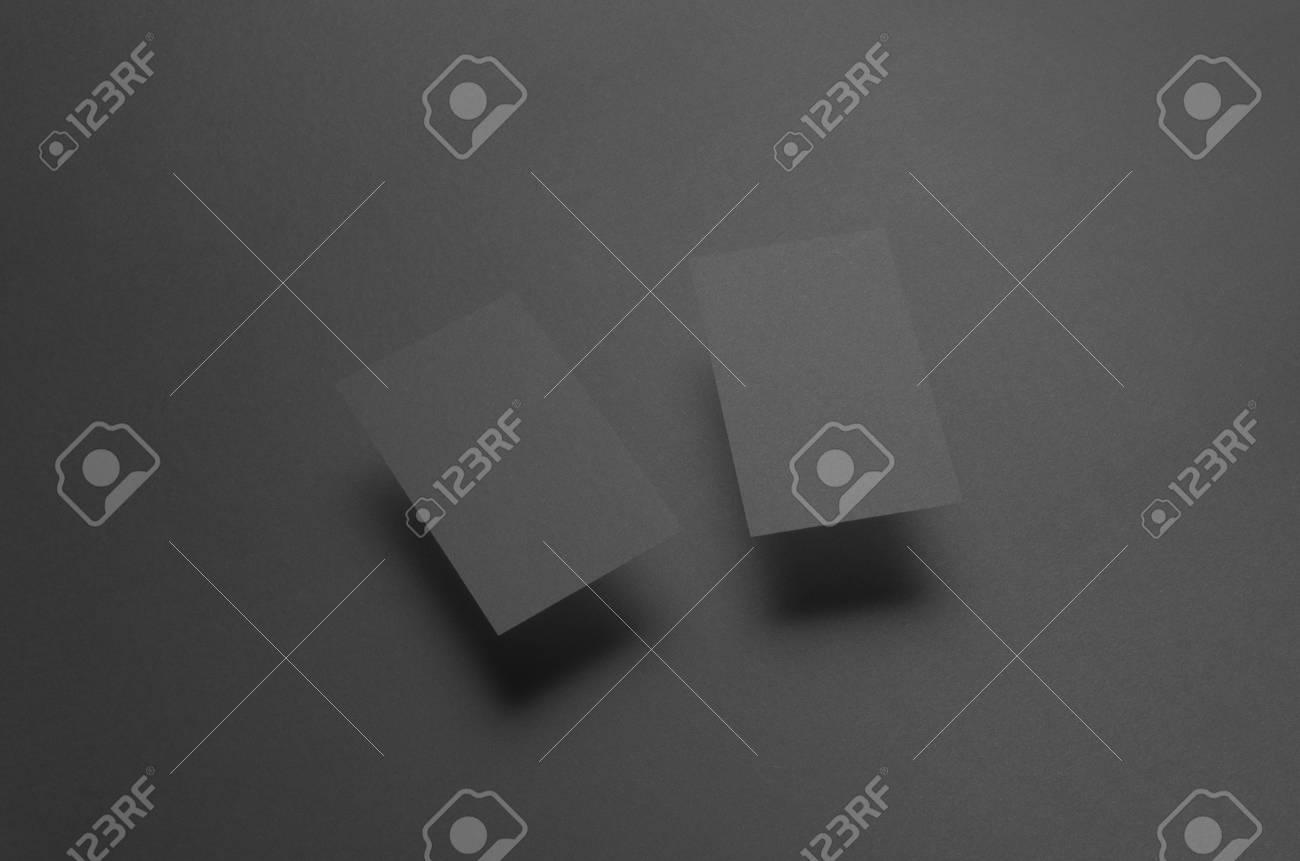 Maquette De Carte Visite Noire 85x55mm