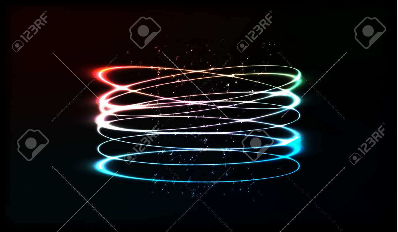 video tunnel neon stock vjyarkus rings depositphotos of