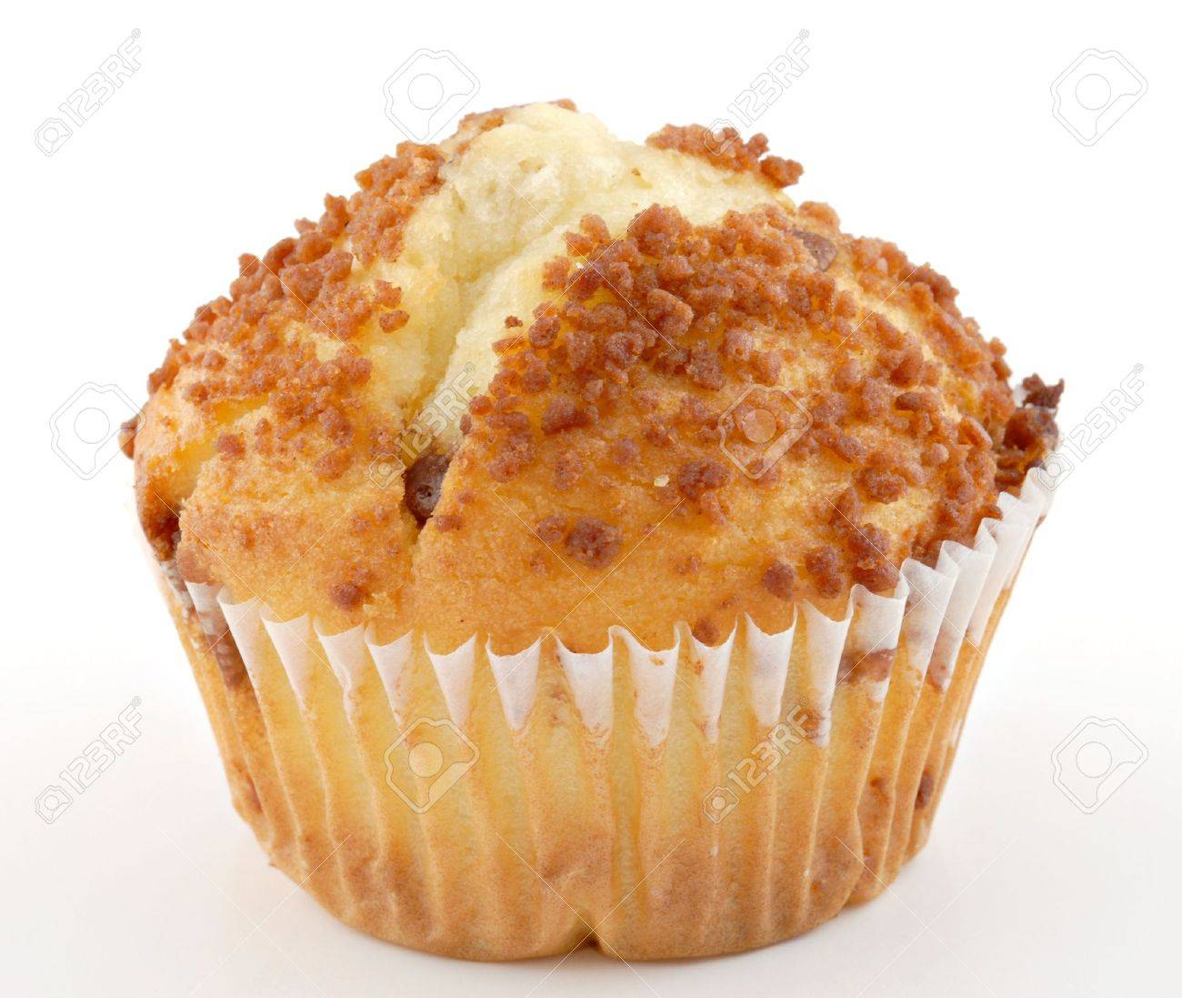 A cinnamon cream cheese muffin isolated on a white background. Stock Photo - 2633888