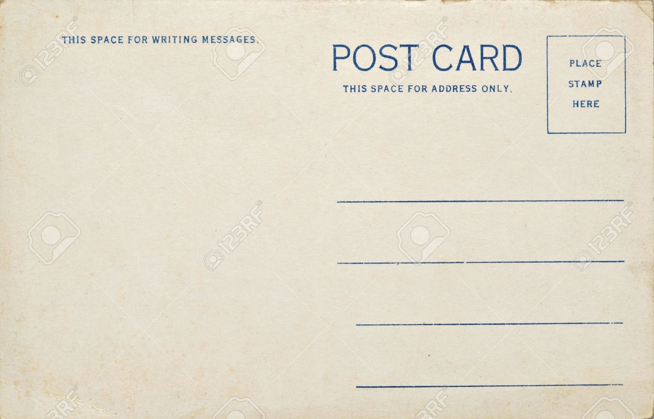 A old vintage blank postcard. Dirt and scratches at 100%. Stock Photo - 2633812