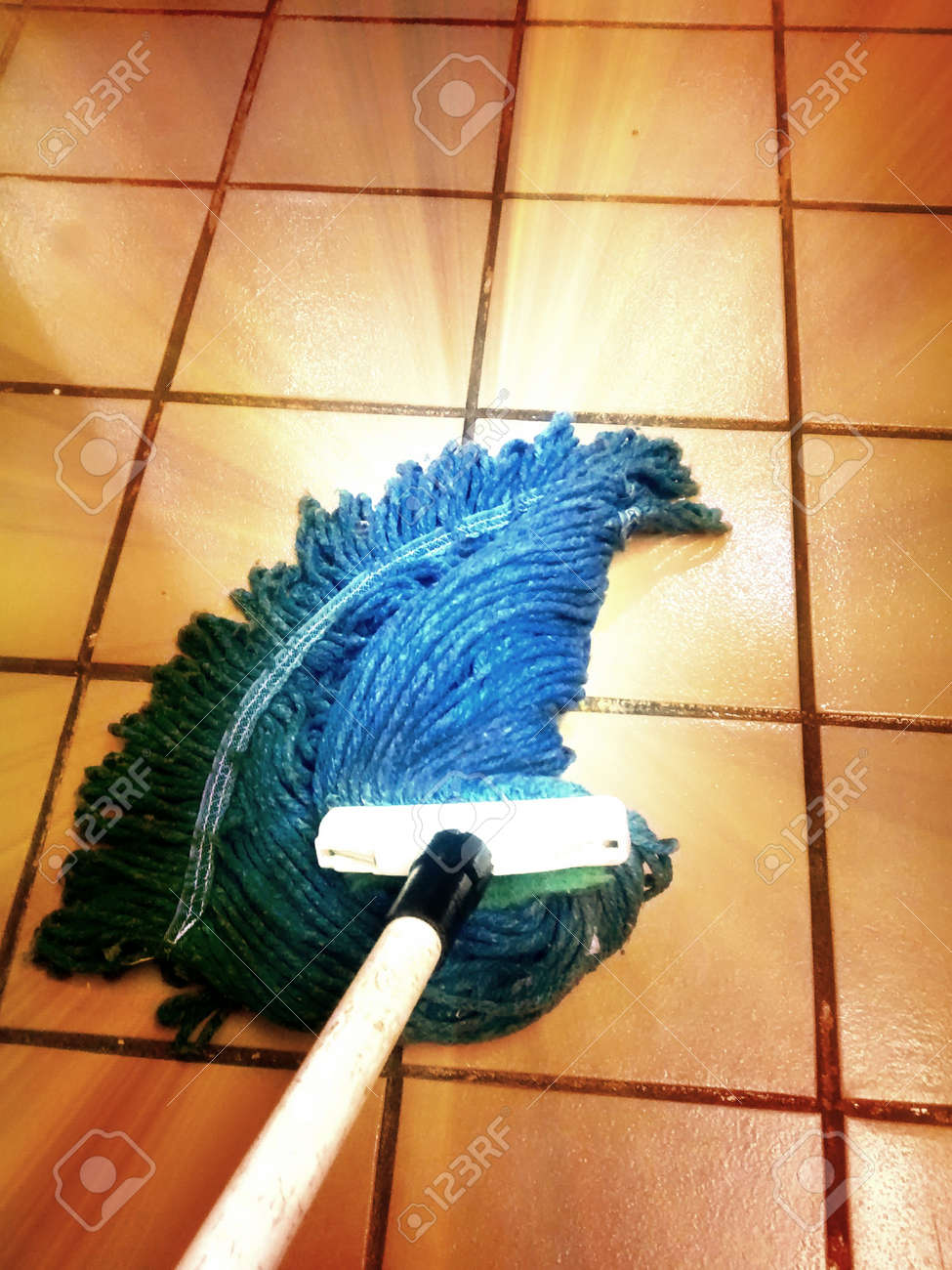 Blue yarn mop mopping tile floor stock photo picture and royalty blue yarn mop mopping tile floor stock photo 56444758 dailygadgetfo Image collections