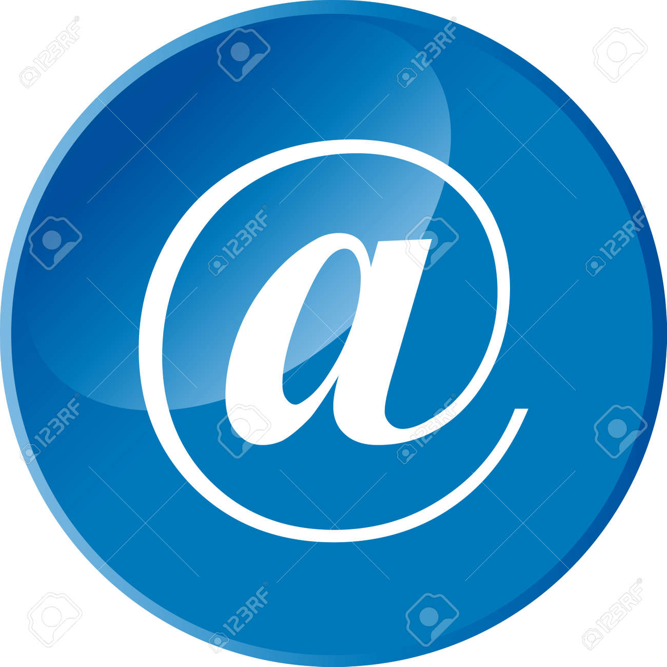 Email web button Stock Vector - 12221384