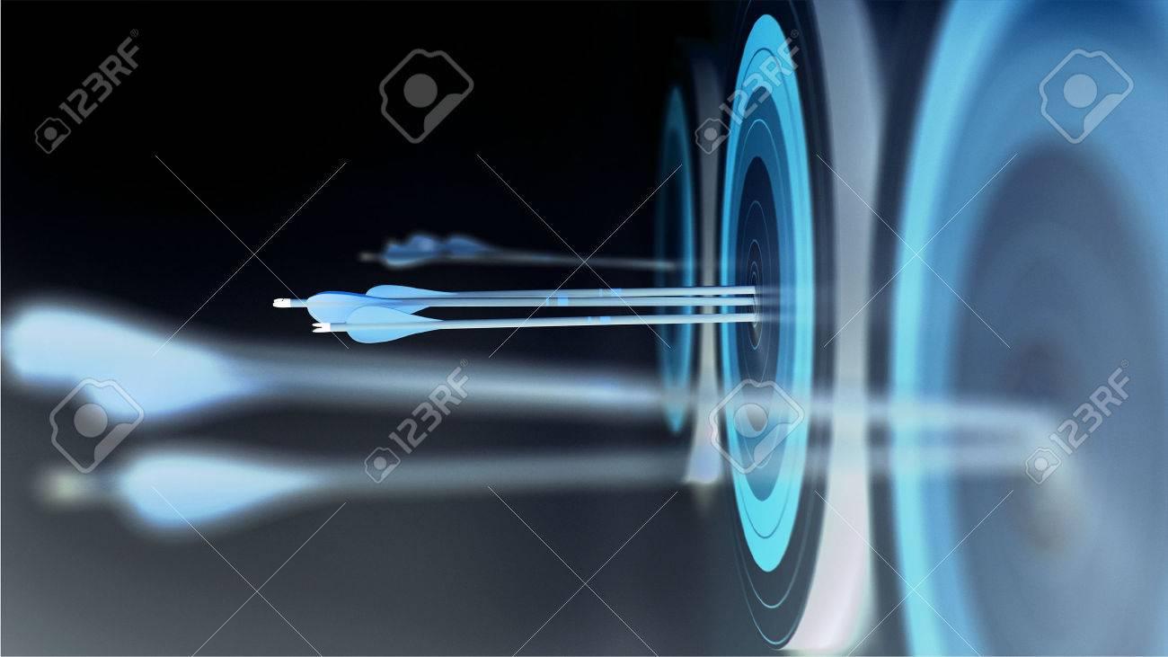 3 Arrows hit target - 32423649