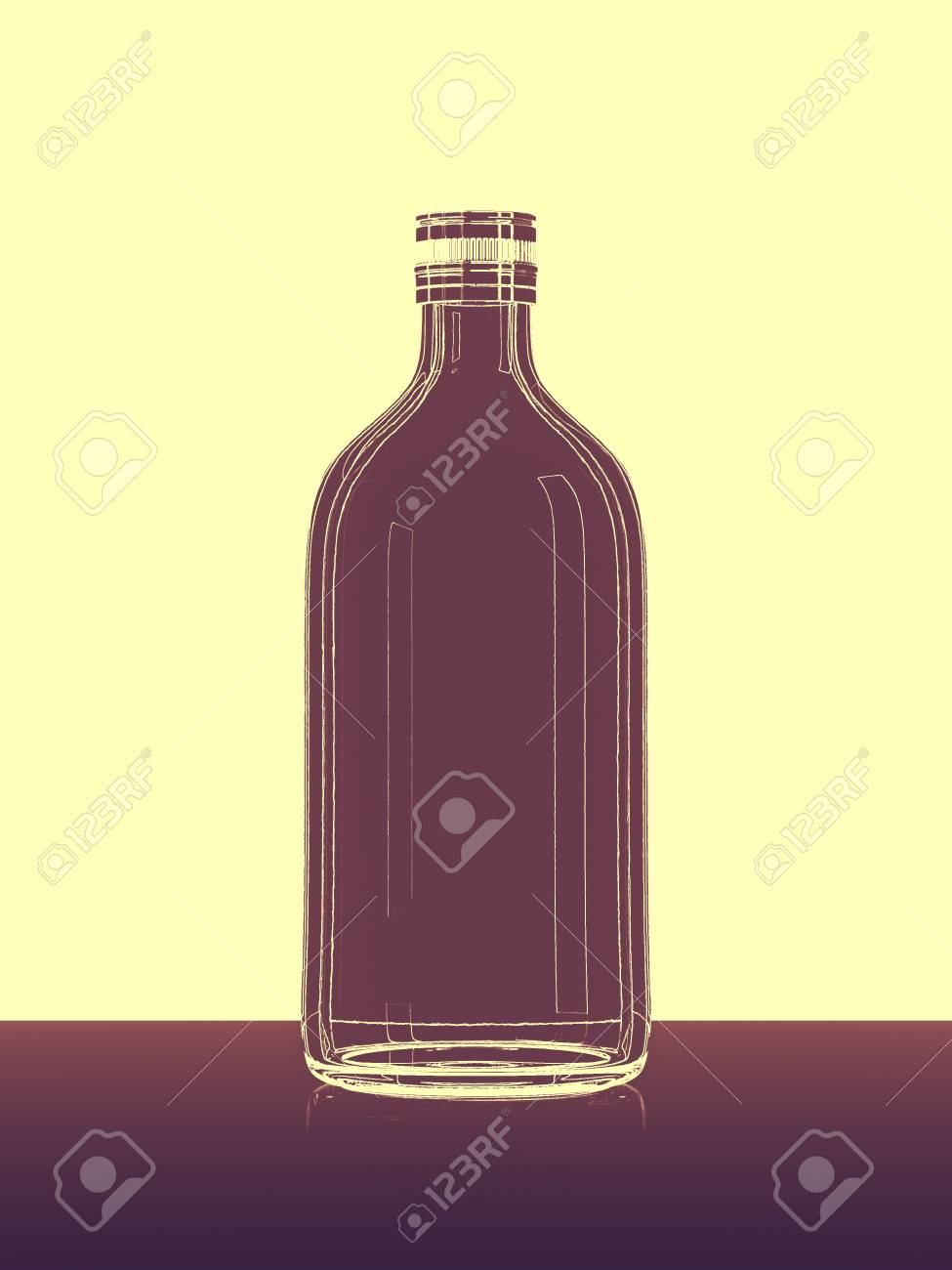 abstract bottle lines - 32423653