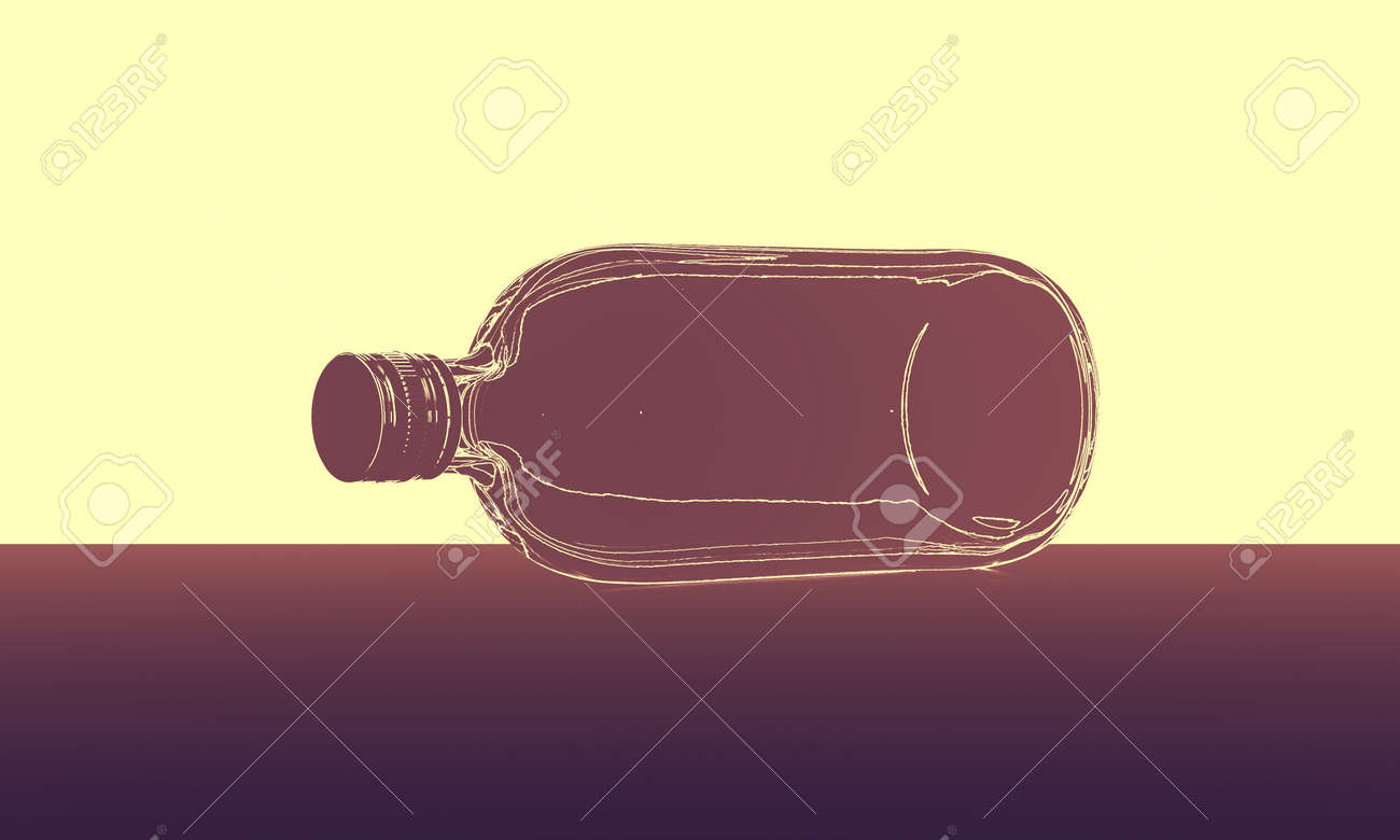 abstract bottle lines - 32423654