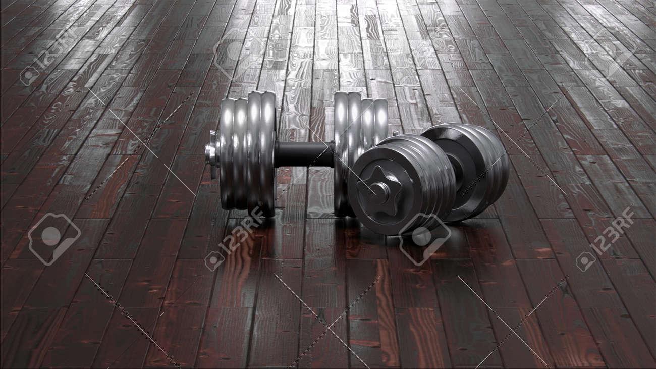 Dumbbells on floor - 32423656