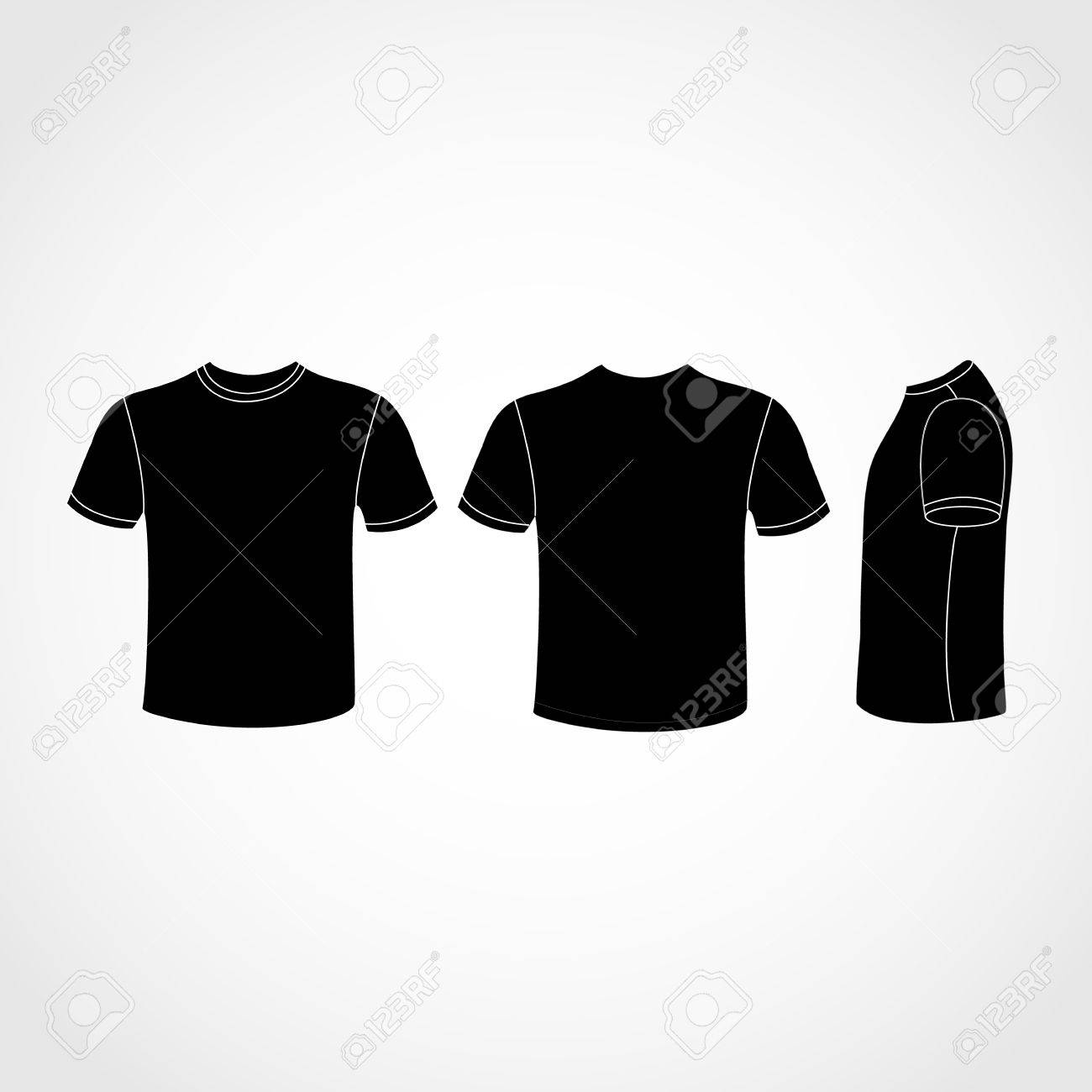 Black t shirt vector free - Black T Shirt Free Vector Black Shirt Icon Great For Any Use Stock Vector 36926390