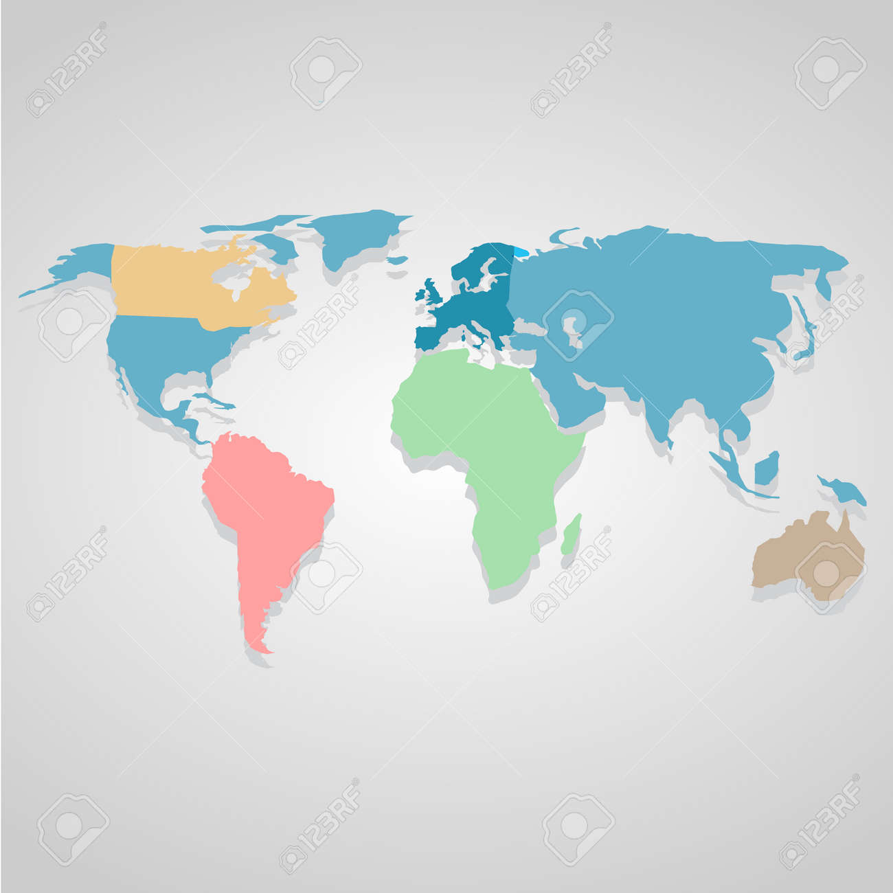Color World map icon great for any use  Vector EPS10