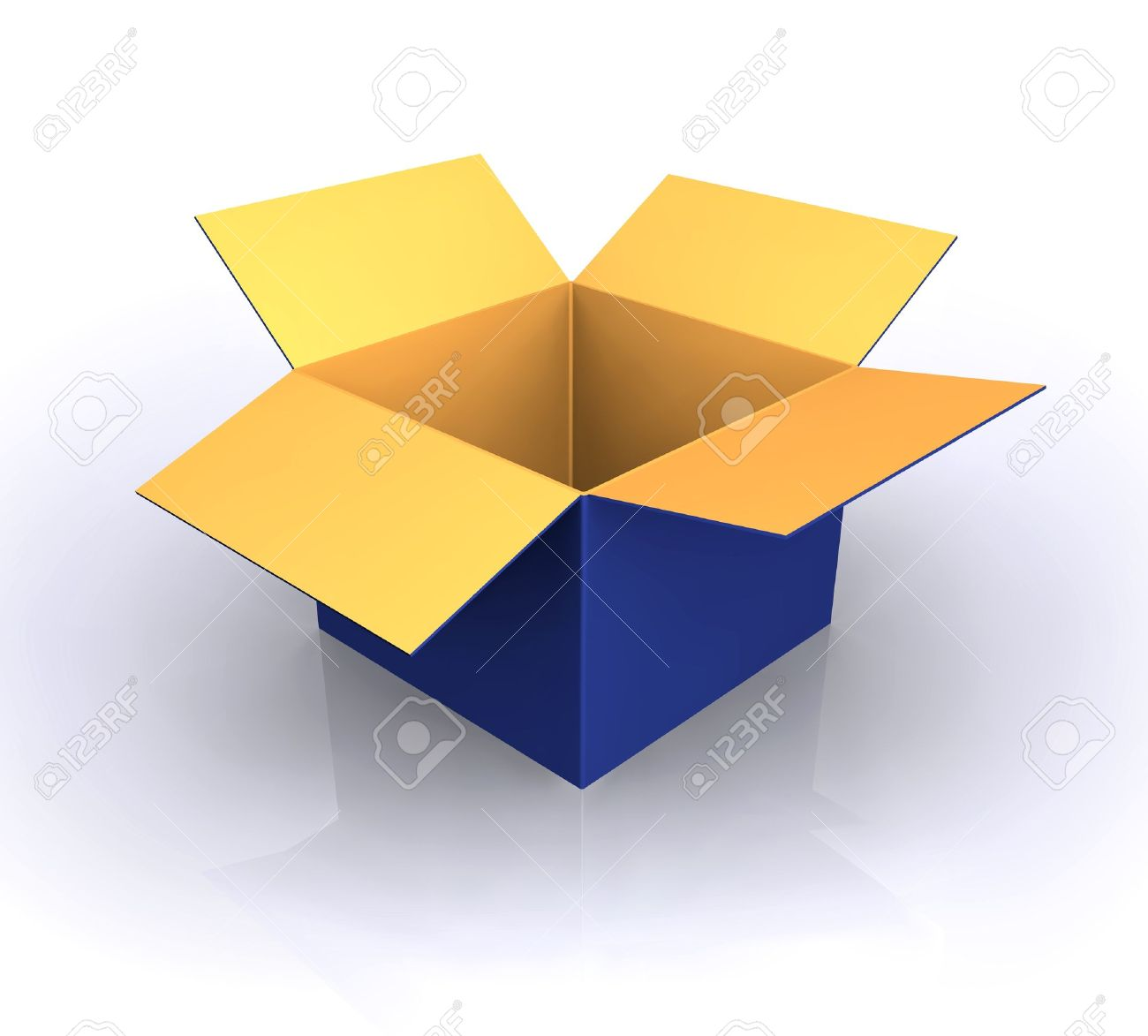 open box clipart. empty open box stock vector 8690469 clipart