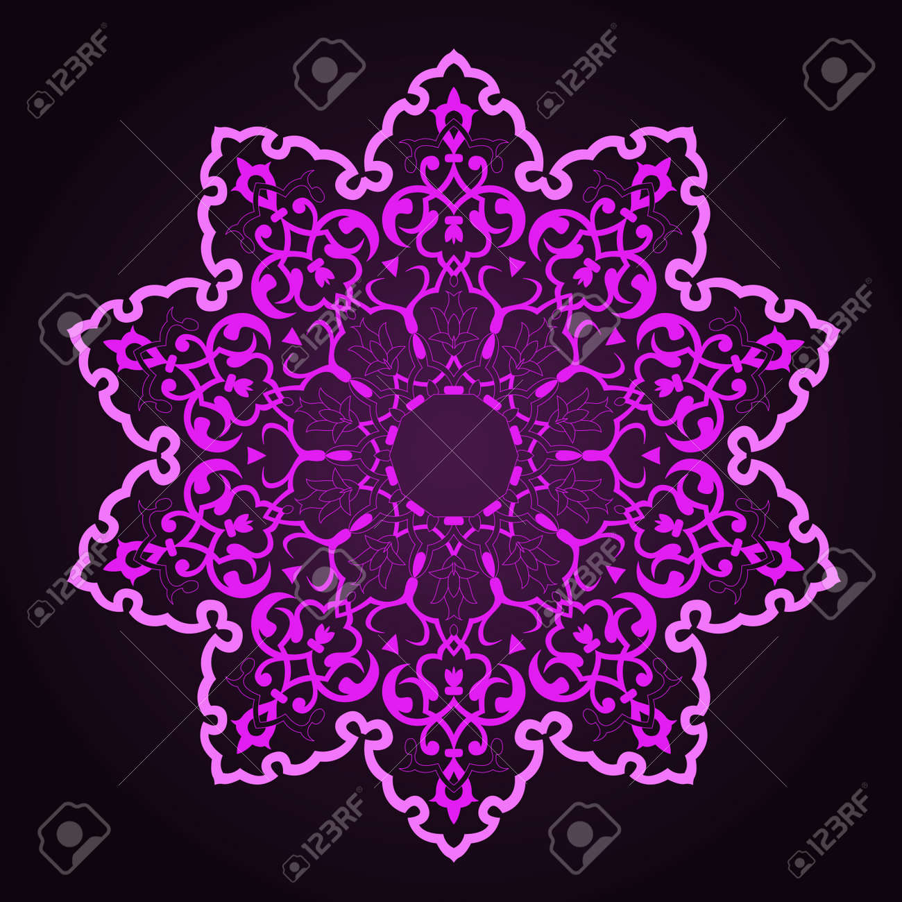 traditional Persian-Arabic-Turkish-Islamic Pattern Stock Vector - 19328911