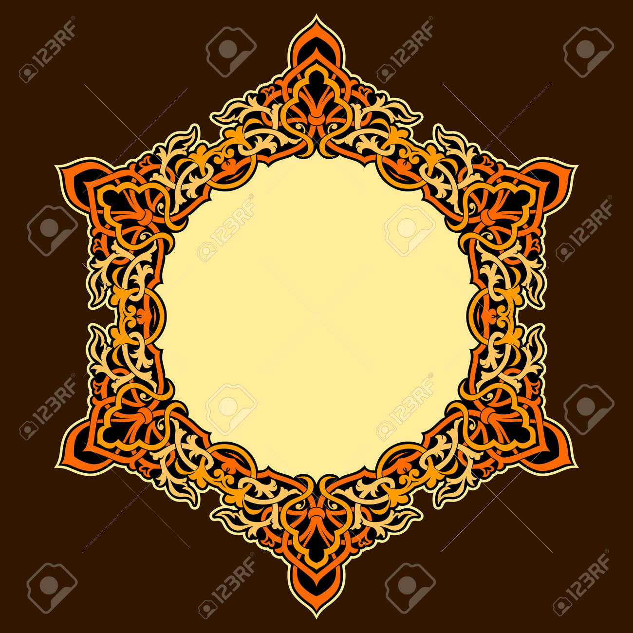 Vector of traditional Persian-Arabic-Turkish-Islamic Pattern Stock Vector - 19694725
