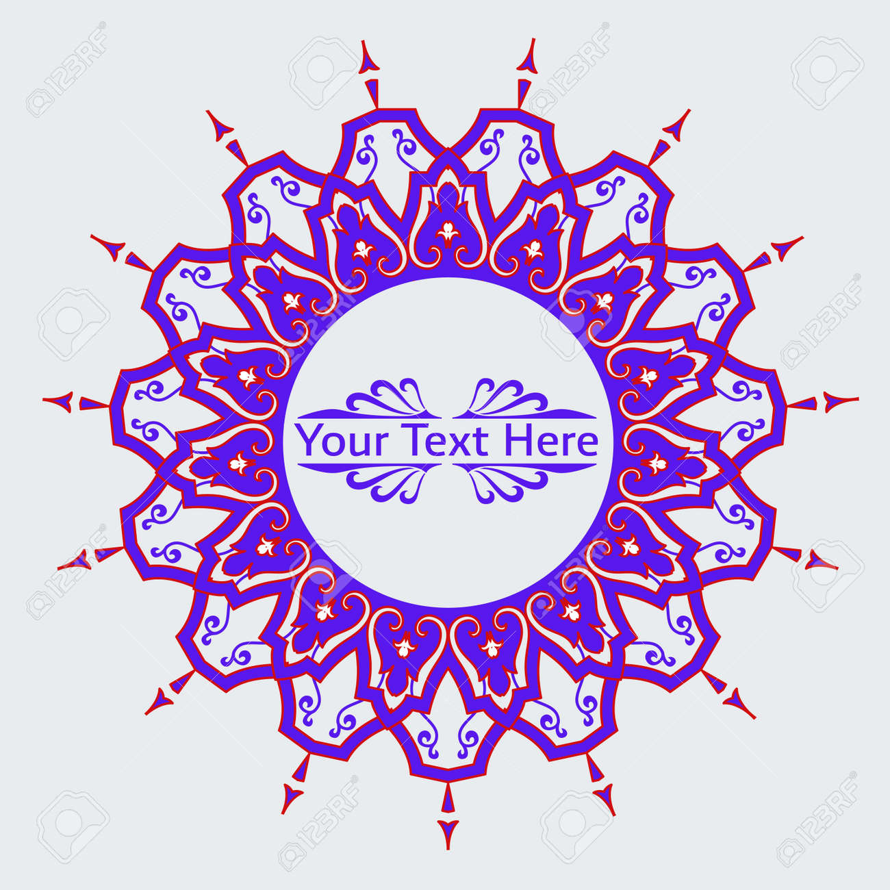Vector of traditional Persian-Arabic-Turkish-Islamic Pattern Stock Vector - 21317586