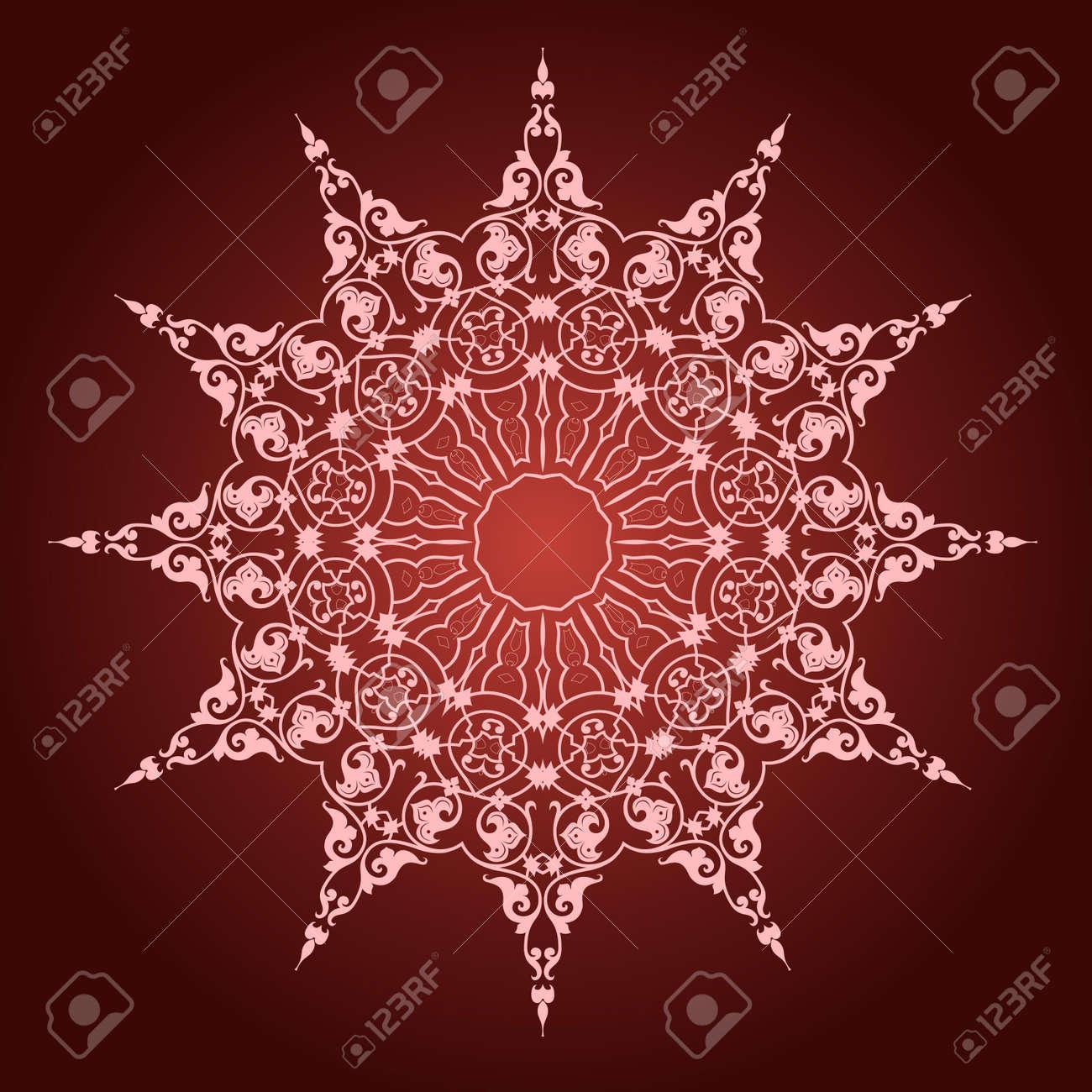 Vector of traditional Persian-Arabic-Turkish-Islamic Pattern - 21542946