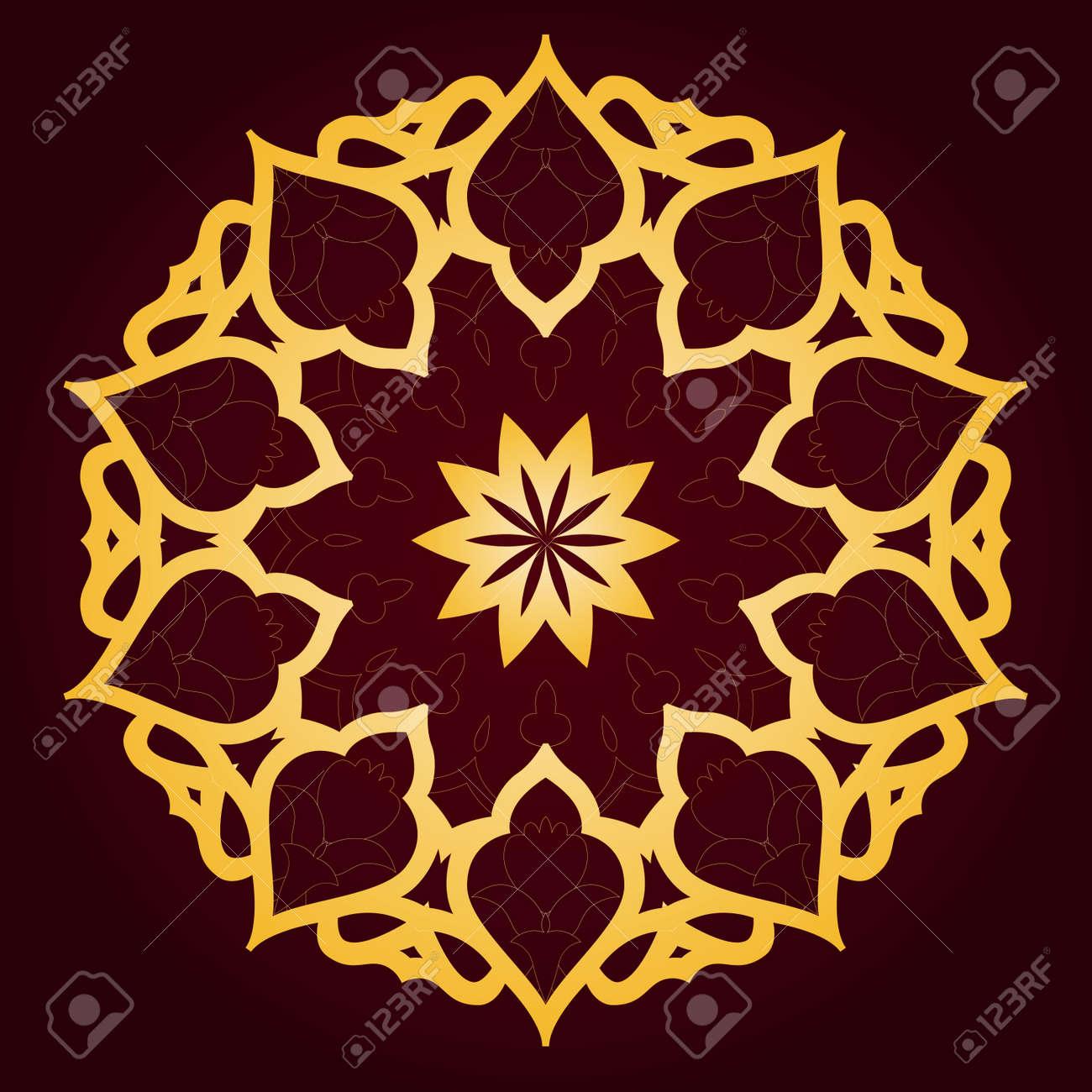 Vector of traditional Persian-Arabic-Turkish-Islamic Pattern - 21542958