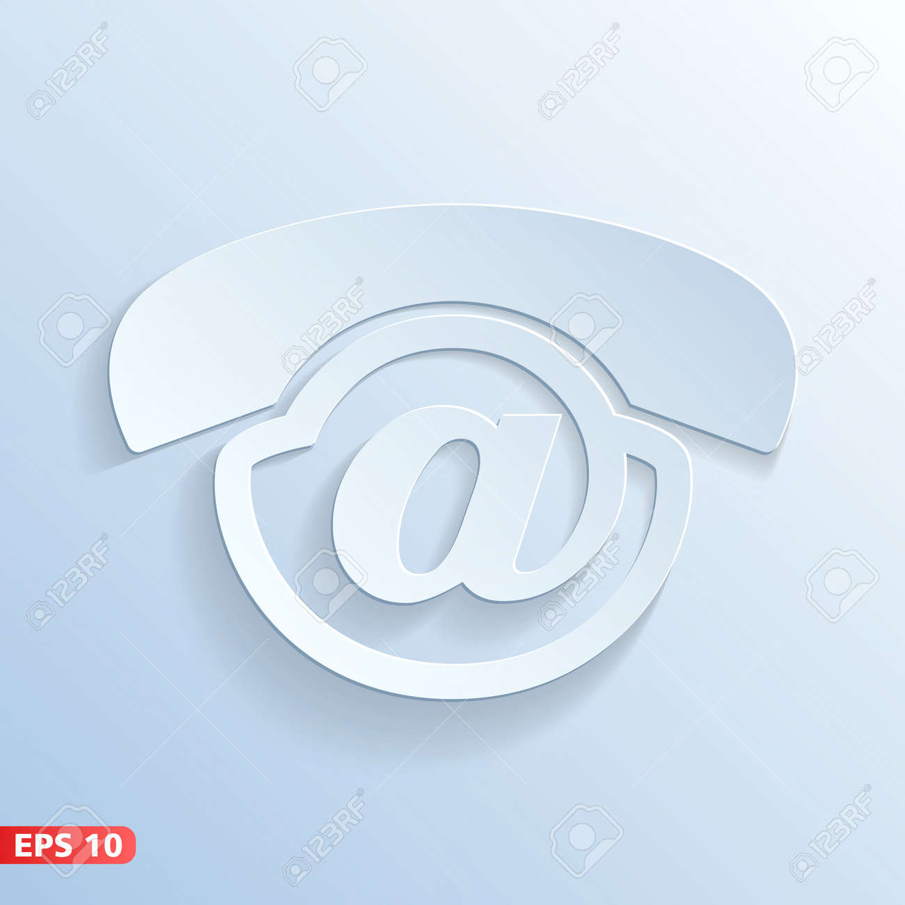 Contact us - phone email voicemail Stock Vector - 23767081