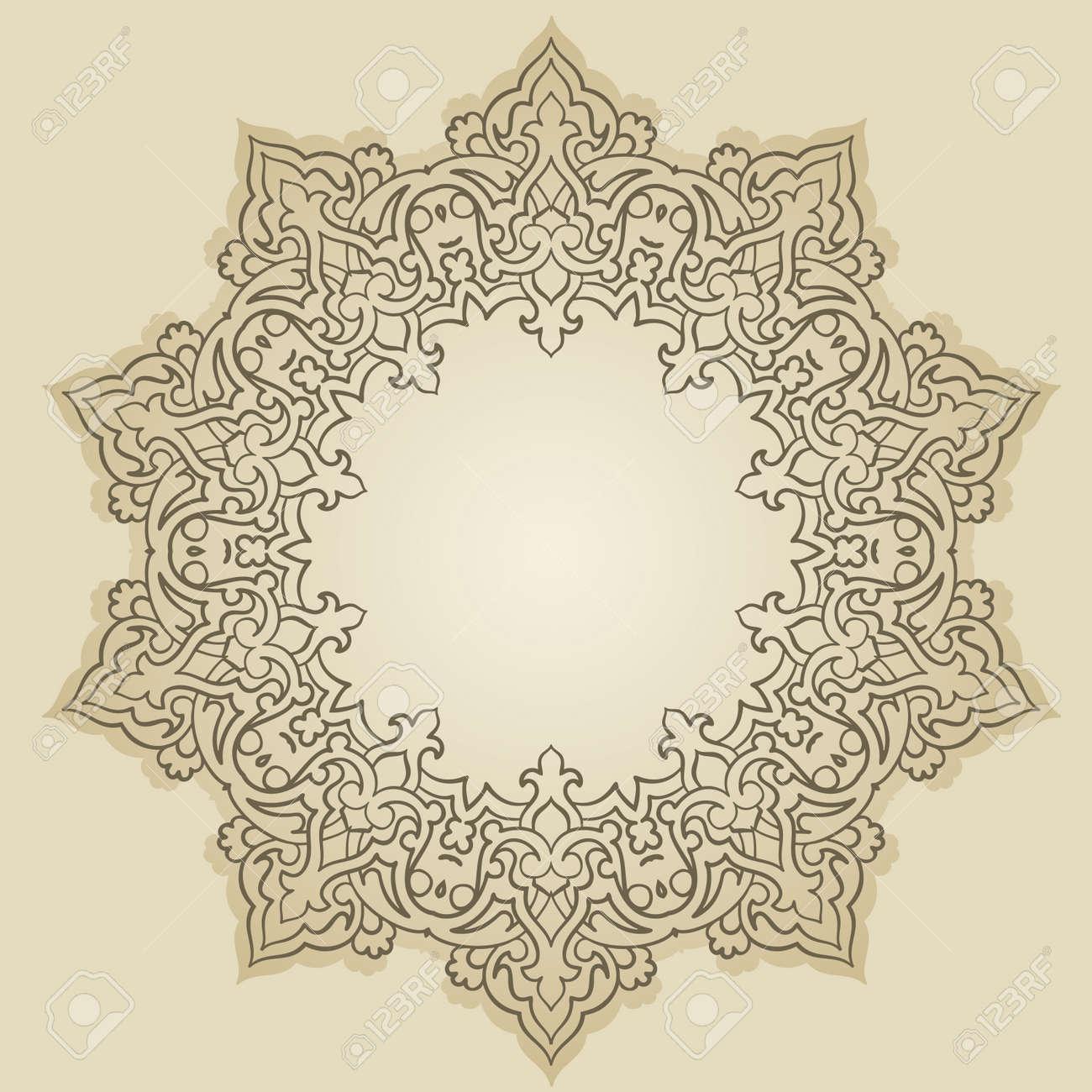 Vector of traditional Persian-Arabic-Turkish-Islamic Pattern - 26002187