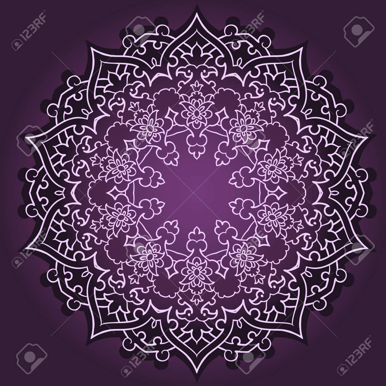 Vector of traditional Persian-Arabic-Turkish-Islamic Pattern Stock Vector - 26002188