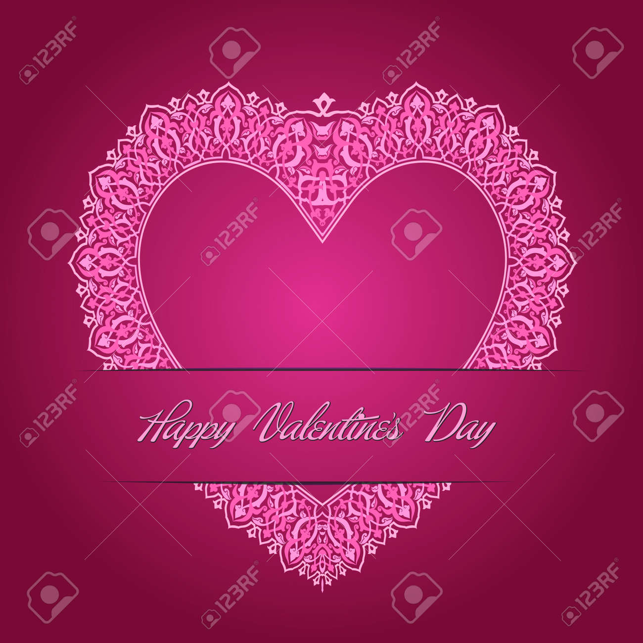 Valentine s Day Card Stock Vector - 26002203