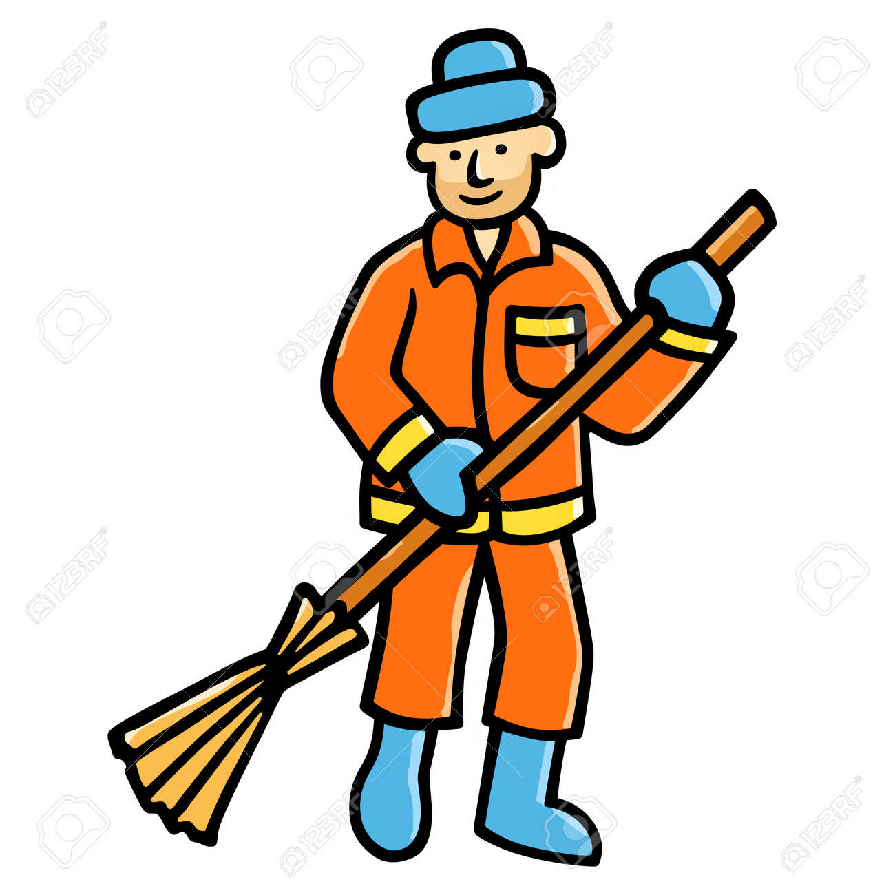 street cleaner royalty free cliparts vectors and stock rh 123rf com st patrick's clipart sesame street clipart