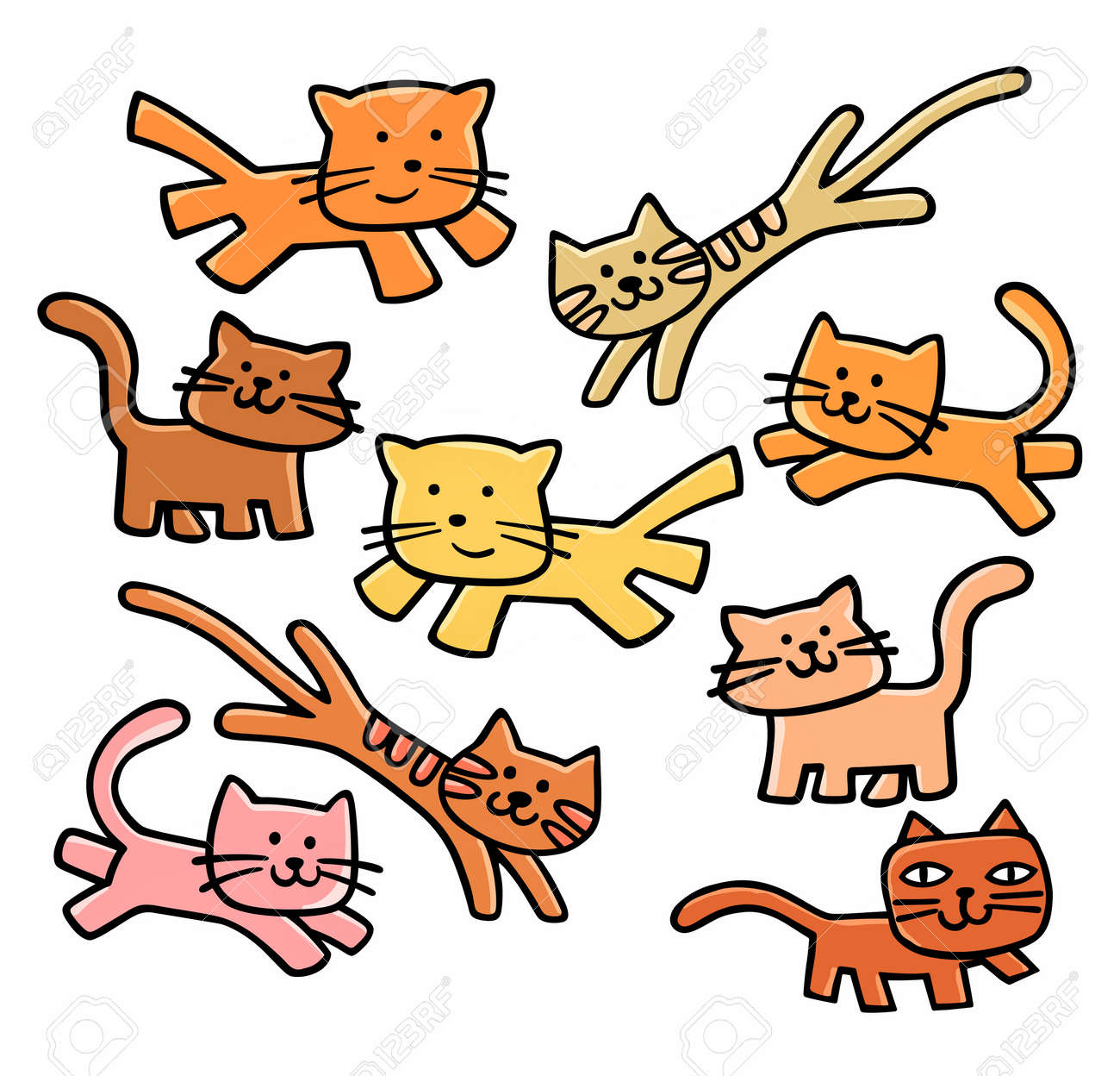 cute cats clipart royalty free cliparts vectors and stock rh 123rf com cats clipart images cats clipart images