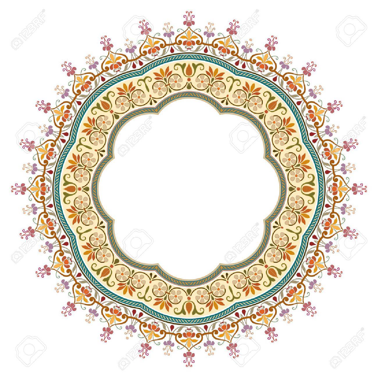 vector abstract circular pattern - frame design - 32567539