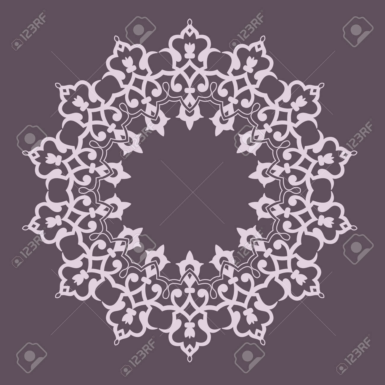 Ronda Patrón Mandala. Resumen De Diseño De Persian- Islámico-turco ...