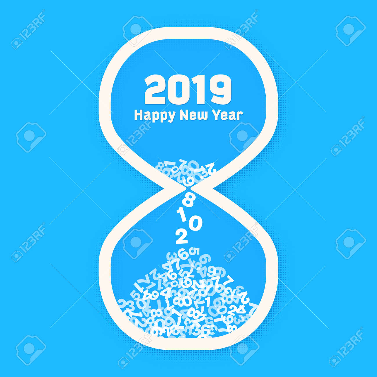 new year 2018 countdown and happy new year 2019 greeting card last days of year