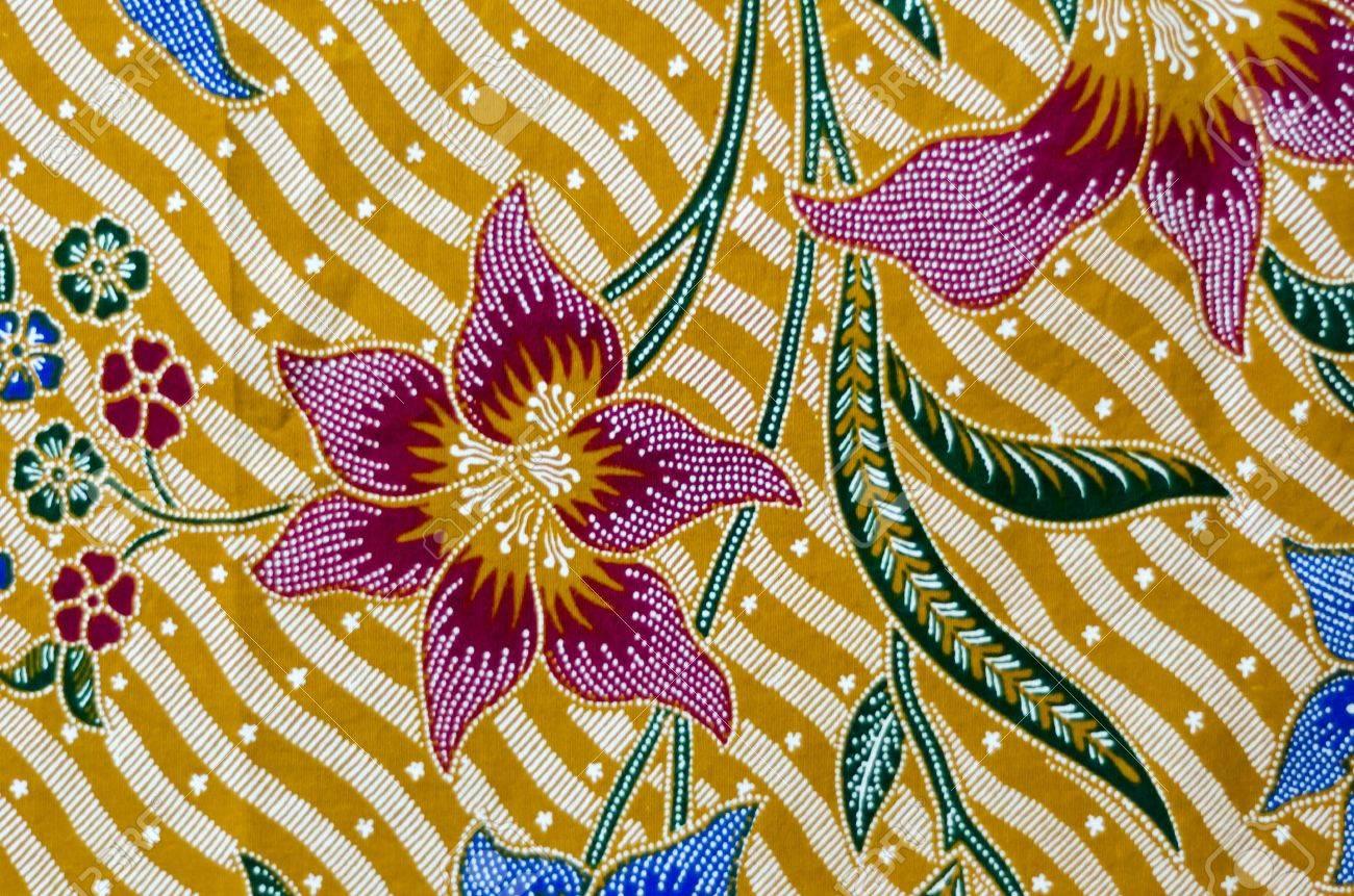 Pattern and Batik Textile Stock Photo - 17418993