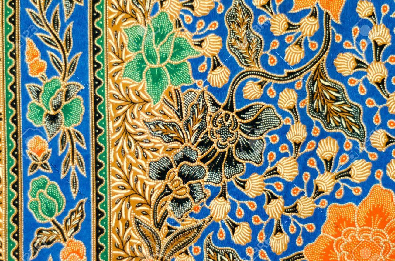 Pattern and Batik Textile Stock Photo - 17418995