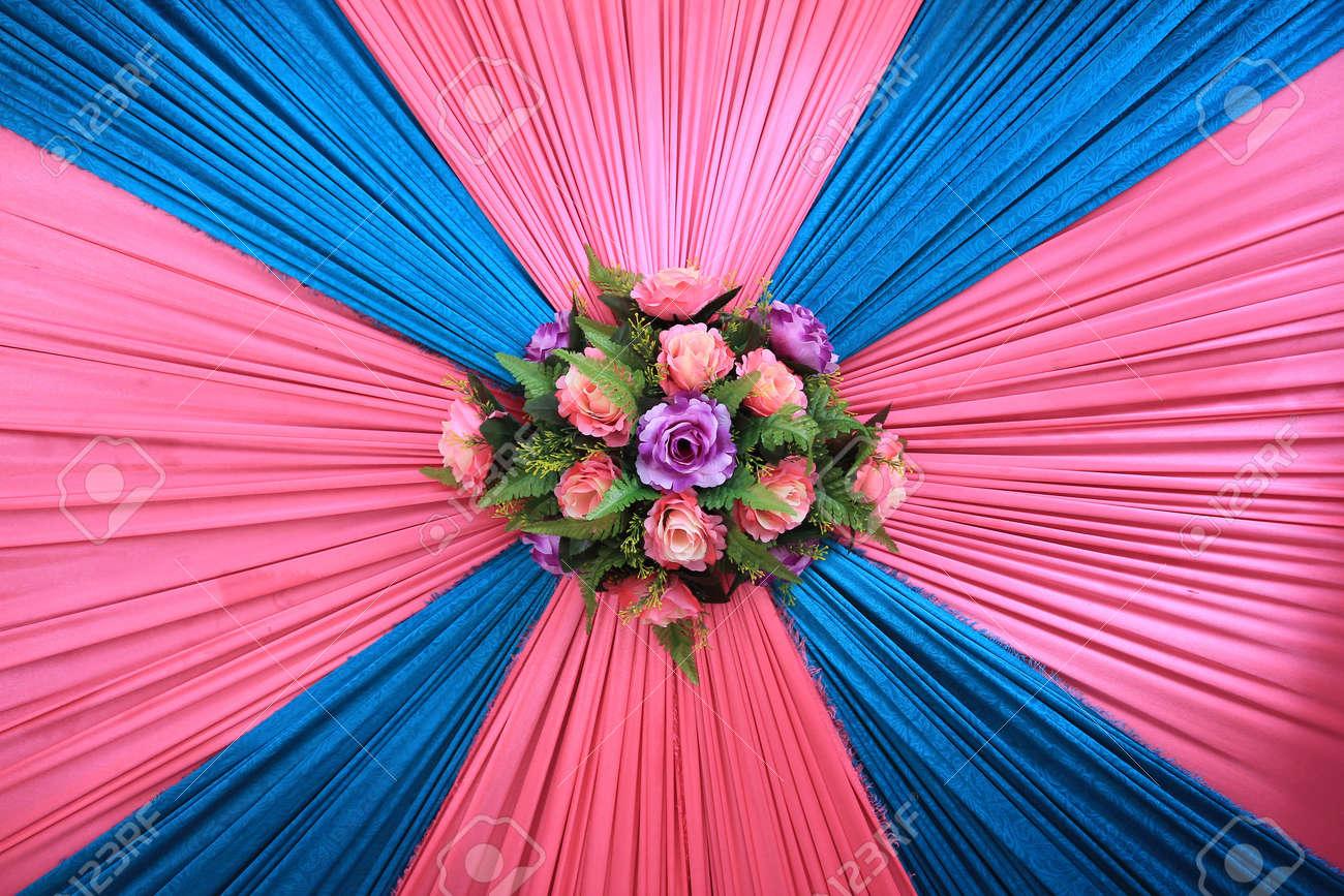 Blumen Dekoration An Der Wand Fur Malaiische Hochzeit Verwendet