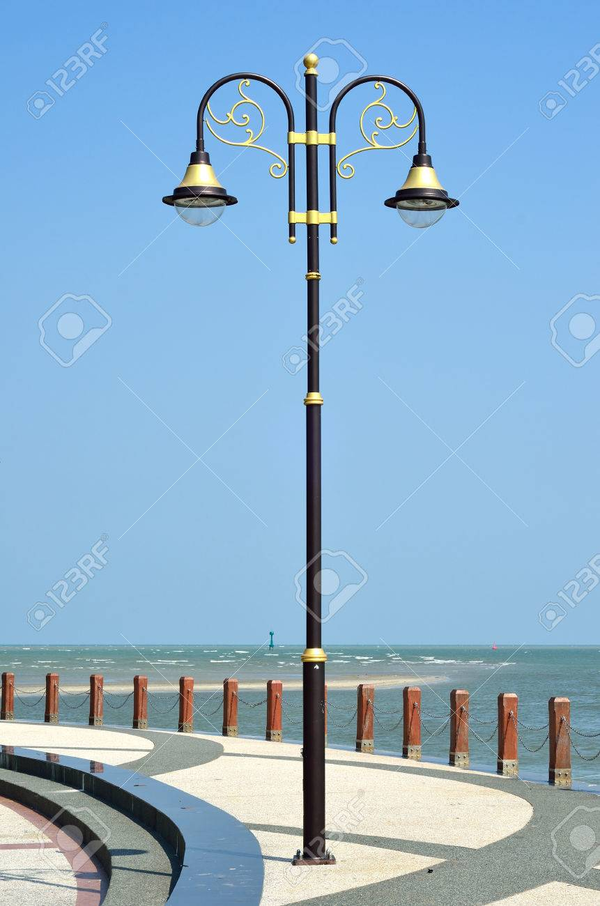 Decorative Light Poles decorative old street lamp pole stock photo, picture and royalty