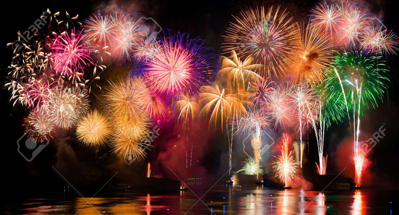 Aesthetic Holiday Colorful Fireworks Fireworks Are A Class Of Explosive Pyrotechnic