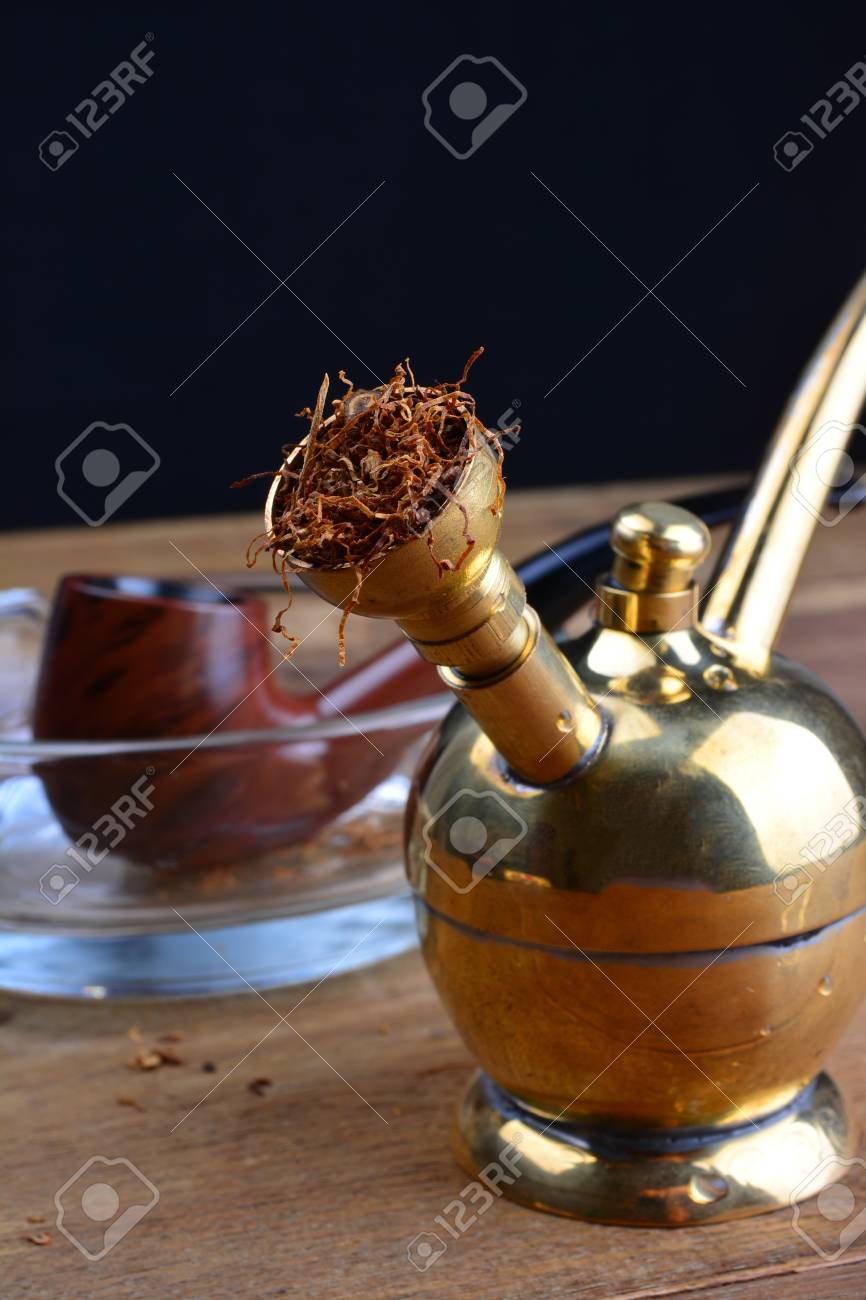 Hookah Coppery Smoking Filter with Tobacco Pipe on wooden tables Stock Photo - 64177552 & Hookah Coppery Smoking Filter With Tobacco Pipe On Wooden Tables ...