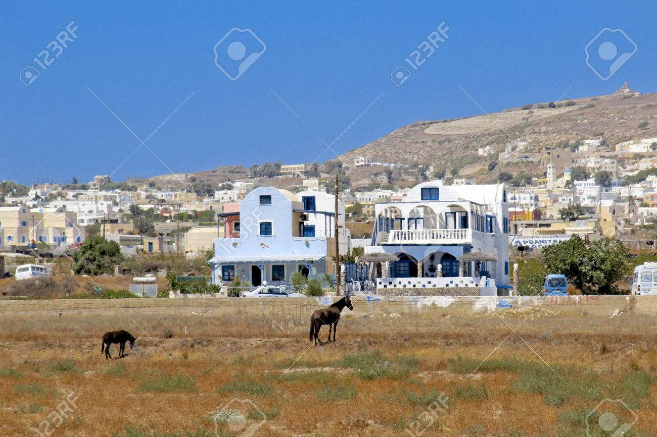 Santorini's farm Stock Photo - 19451328