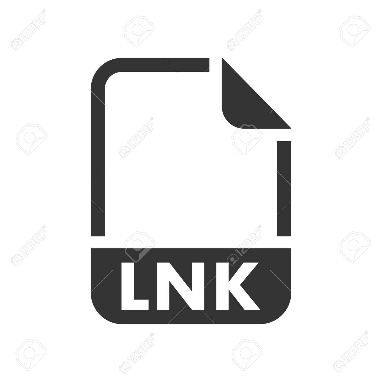 LNK File format icon, vector image - 159135635