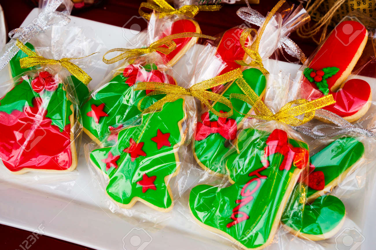 Mixed Christmas Cookies Colorful Mix Of Christmas Themed Decorated